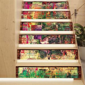 ZB20 Abstract 3d Chinese Style Decorative Wall Sticker Stairway Corridor Sticker -