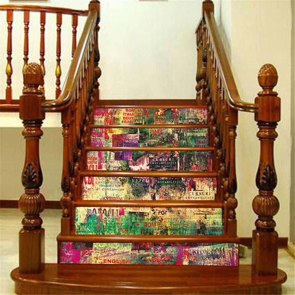 Sale ZB20 Abstract 3d Chinese Style Decorative Wall Sticker Stairway Corridor Sticker