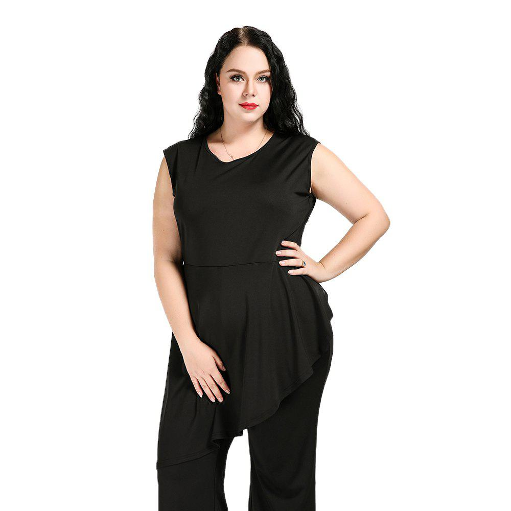 adc2e5b8061 Outfit Cute Ann Women s Sexy V-neck Sleeveless Peplum Design Plus Size  Formal Jumpsuits