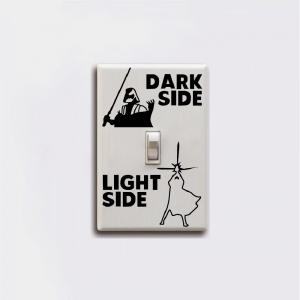 Dark Side Light Side Switch Sticker Wall Decal Home Decor -