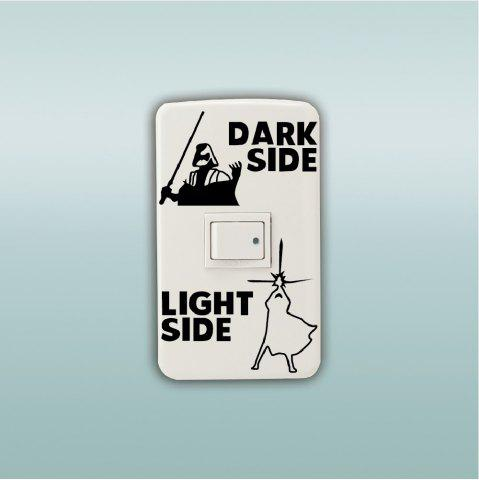 Discount Dark Side Light Side Switch Sticker Wall Decal Home Decor