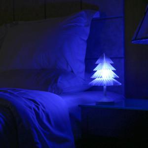 JUEJA Christmas Tree Desk Lamp USB Colorful LED Touch Control Night Light Xmas New Year Gift -