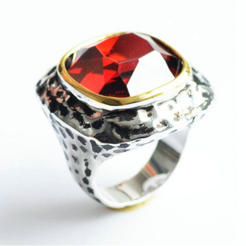 Discount Fashion Plated Rhodium Color Zircon Luxury Rings