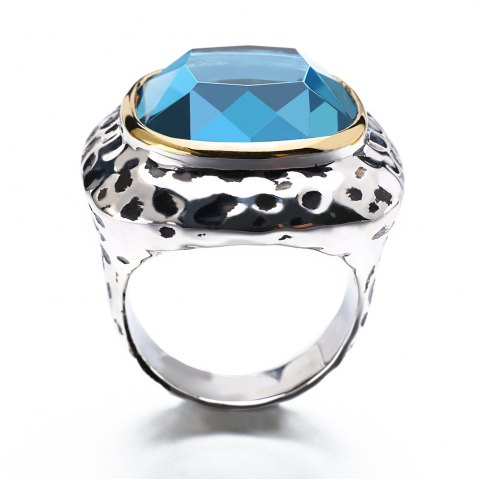 New Fashion Plated Rhodium Color Zircon Luxury Rings