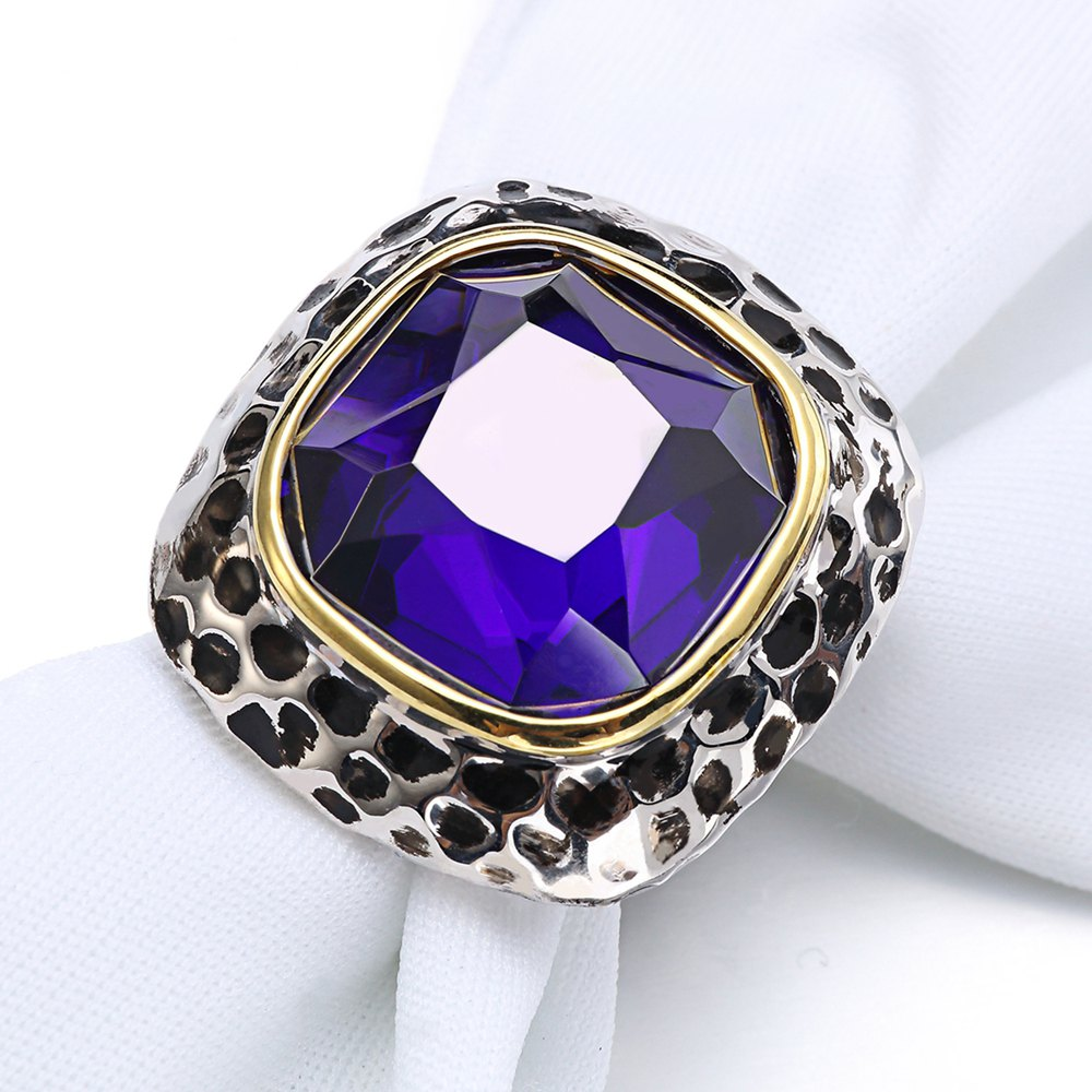 Fashion Fashion Plated Rhodium Color Zircon Luxury Rings