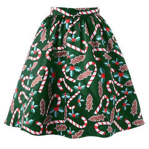 Shops Women's Fashionable Christmas Printing Crutch Skirt