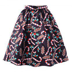 Women's Fashionable Christmas Printing Crutch Skirt -