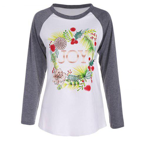 Store Women's Fashion Spell Color Printing Long-Sleeved T-Shirt