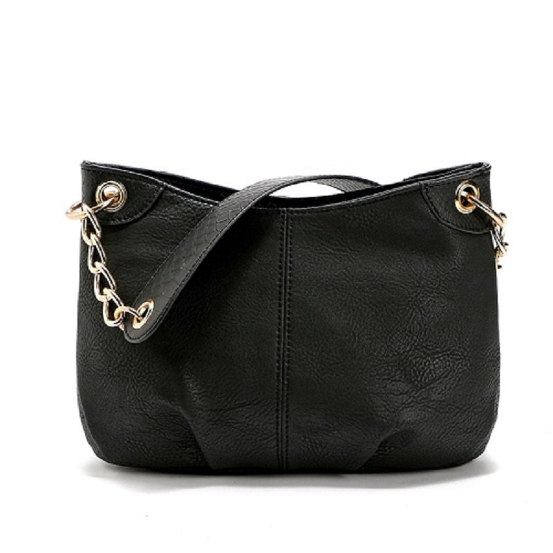Store New Designer Women PU Leather Steel Chain Shoulder Bag Luxury Handbags Lady Bags Female Tote
