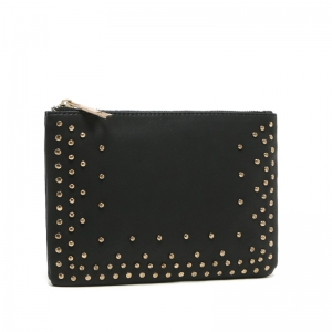 Rivet Clucth Bag Women PU leather purse Make Up Bags wallet -