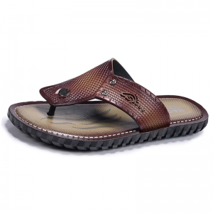 Wine Red Men Flip-flops -
