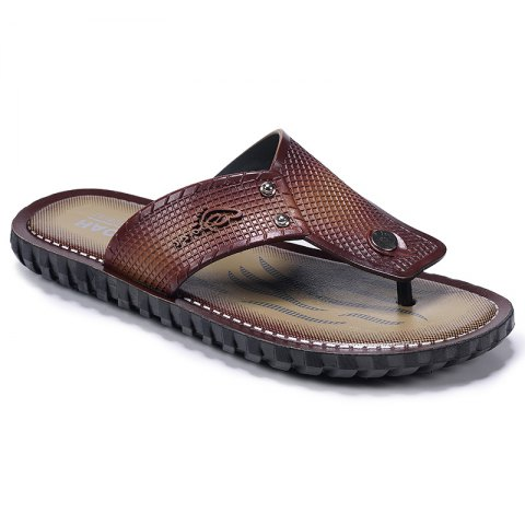Cheap Wine Red Men Flip-flops