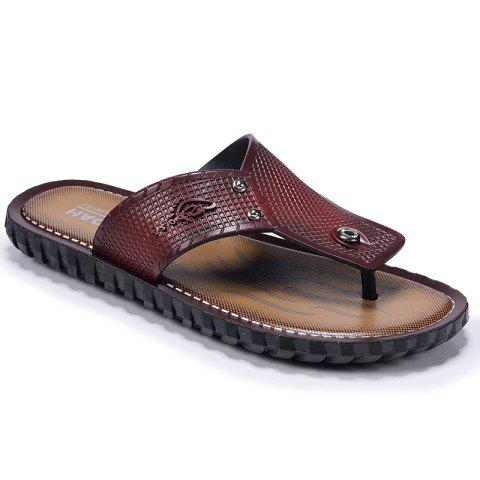 Best Wine Red Men Flip-flops