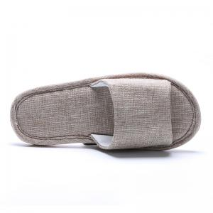 Linen Cotton Simple Household Lovers Slippers -
