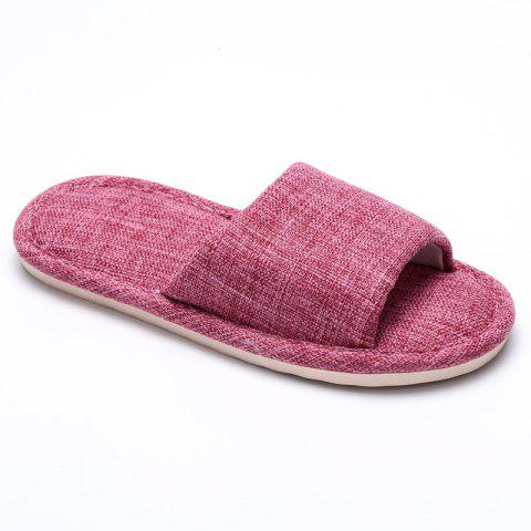Buy Linen Cotton Simple Household Lovers Slippers