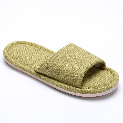 New Linen Cotton Simple Household Lovers Slippers