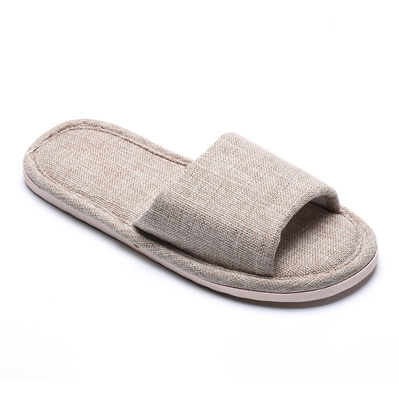 Fashion Linen Cotton Simple Household Lovers Slippers