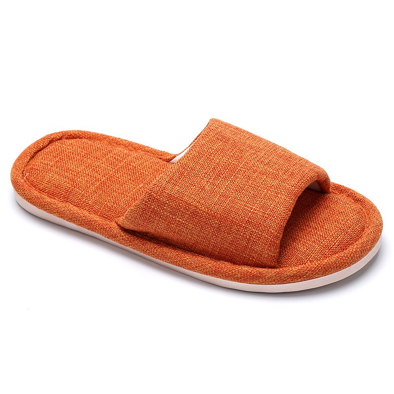 Shop Linen Cotton Simple Household Lovers Slippers