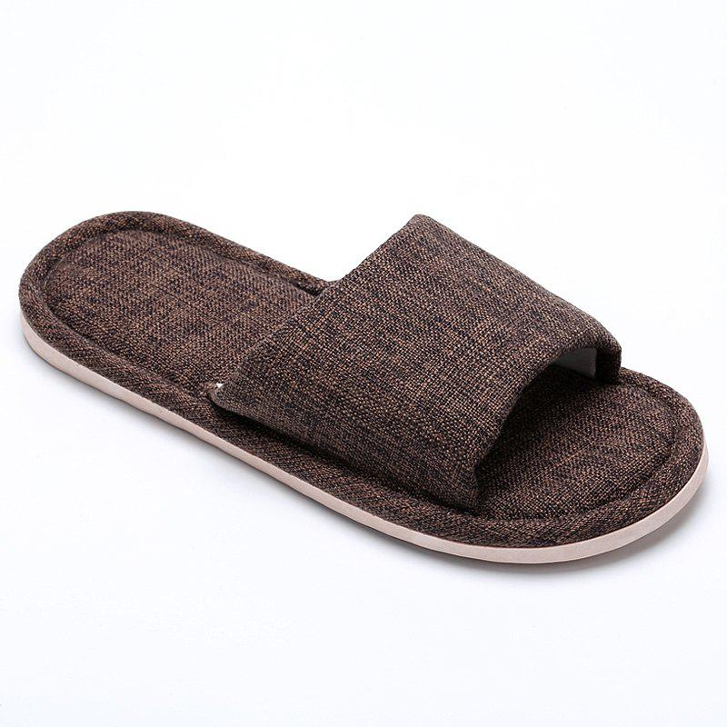 Unique Linen Cotton Simple Household Lovers Slippers