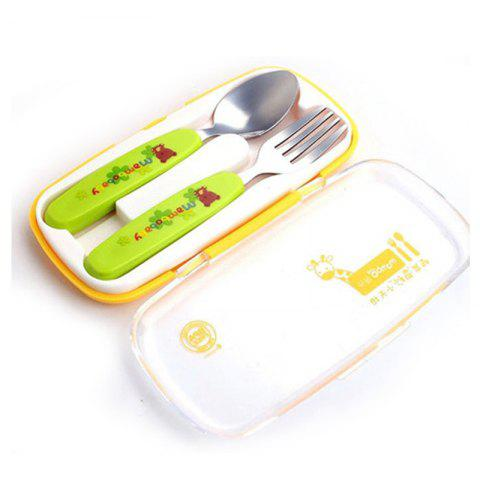 Fancy baby stainless steel anti-scalding spoons two-piece