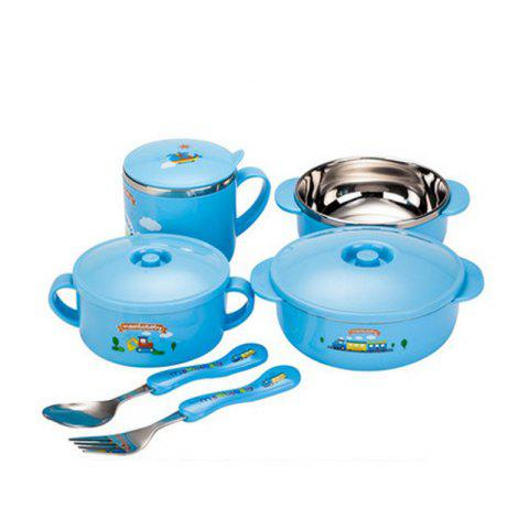 Cheap stainless steel tableware six sets gift boxed
