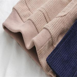 New Women's Color Matching Pocket Corduroy Cotton Garment -