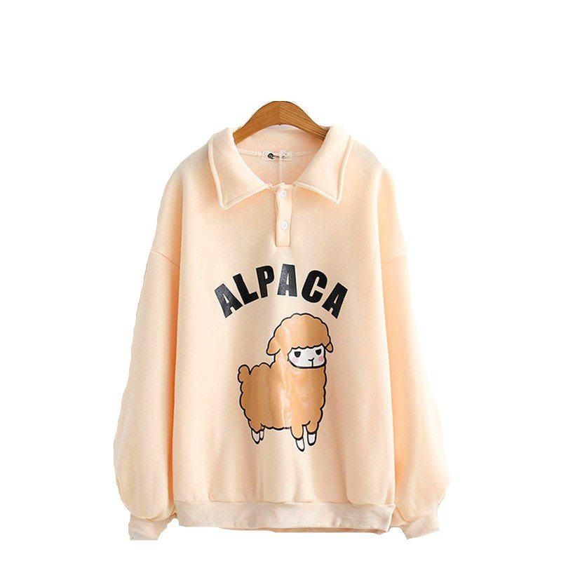New Lady Cartoon mouton polo sweat-shirt