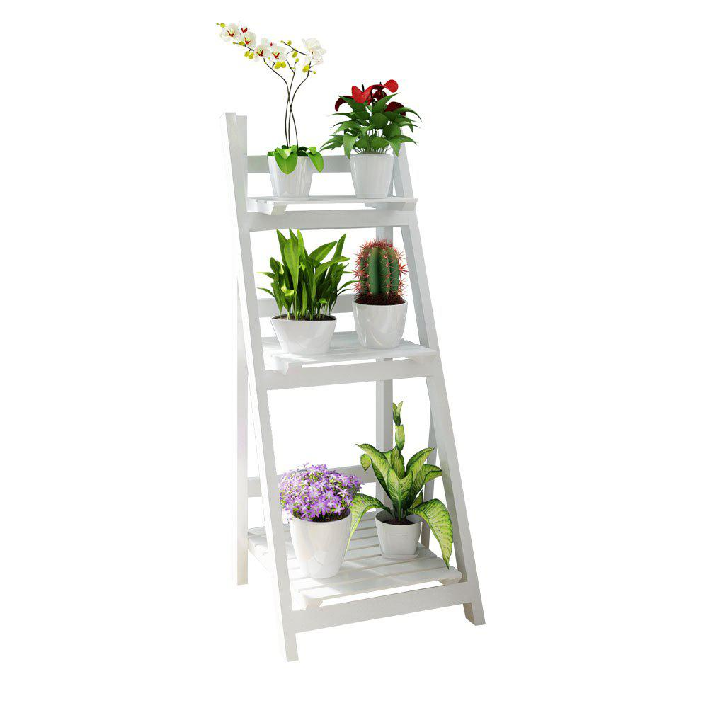 Discount Foldable Plant Stand Flower Ladder Rack, Solid Wood (3-Tier)
