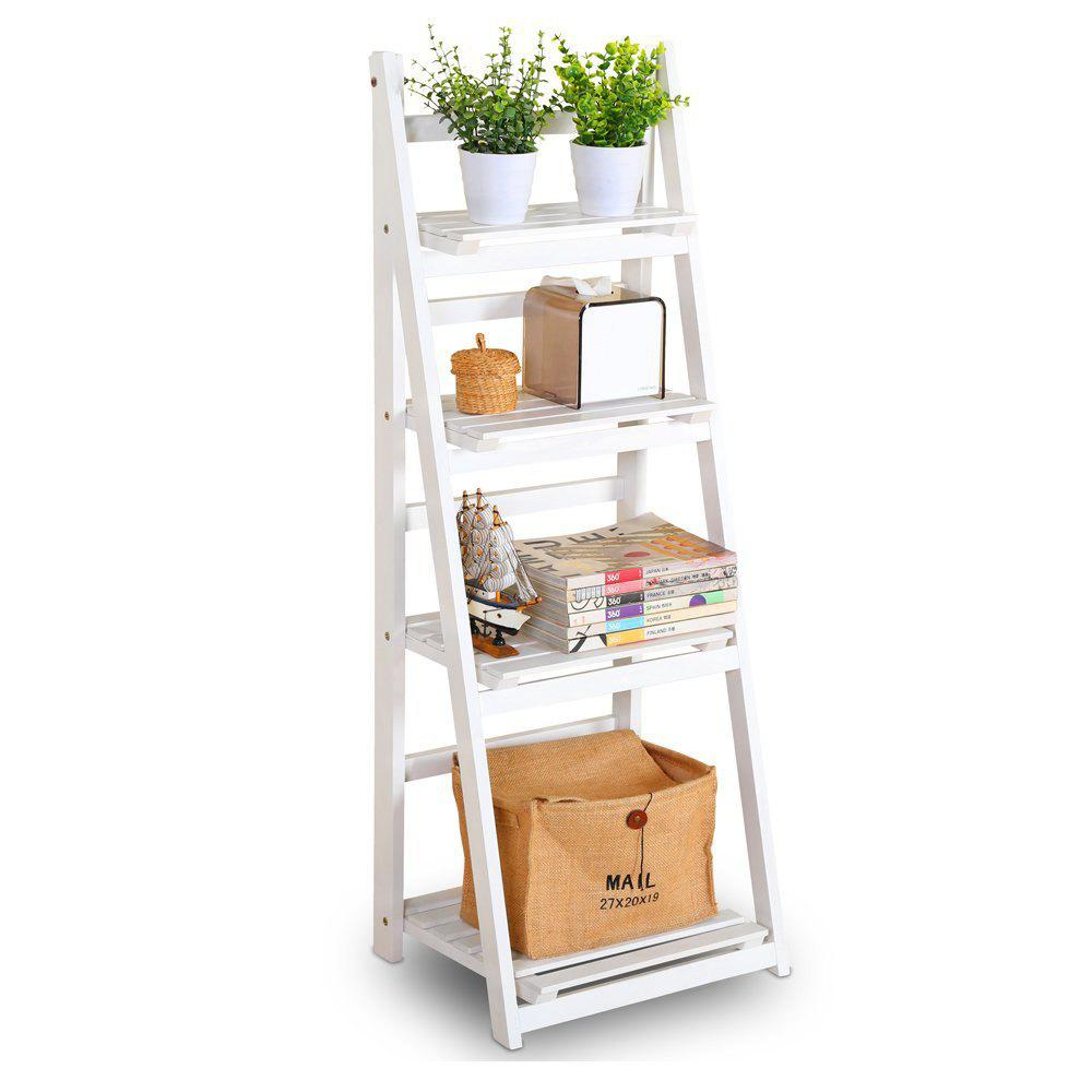 Buy Foldable Plant Stand Flower Ladder Rack, Solid Wood (4-Tier)
