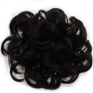 100 Percent Human Hair Scrunchy Scrunchie Bun Up Do Hair Piece Hair Ribbon Extensions -