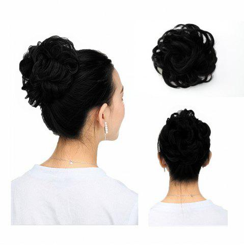 Hot 100 Percent Human Hair Scrunchy Scrunchie Bun Up Do Hair Piece Hair Ribbon Extensions