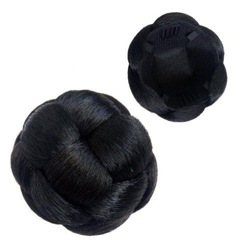 Buy Dome Hair Piece Kaneralon Black Chignon with Clip-in Fake