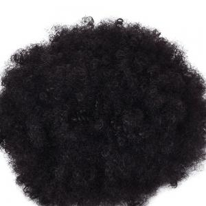 Afro Kinky Curly Synthetic Hair Bun Extension Chignon Hairpieces Wig for American Black Women -