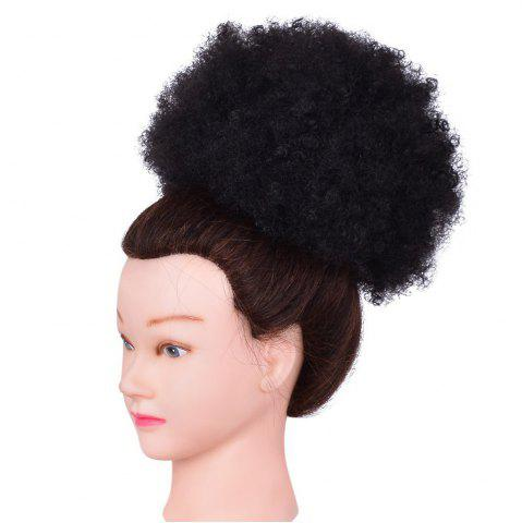 Chic Afro Kinky Curly Synthetic Hair Bun Extension Chignon Hairpieces Wig for American Black Women