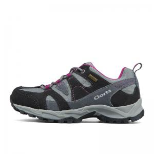 Clorts Women Hiking Shoes Waterproof EVA Trekking Climbing Shoes Cow Suede -