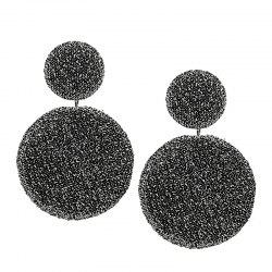 Simple Geometric Round Earrings -