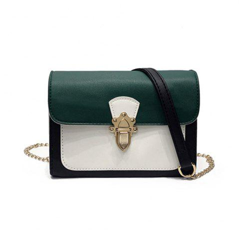 Shop Simple New Joker Chain Bag Contrast Color Cross-body Bag