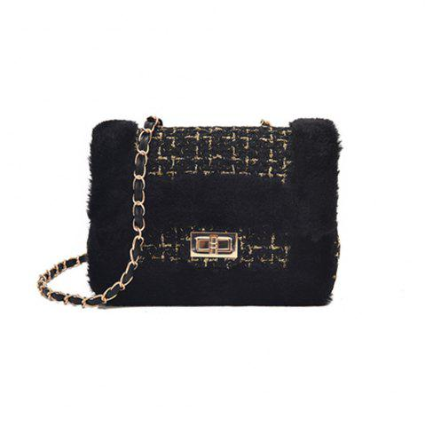 Trendy New Wild Chain Woolen Shoulder Messenger Bag Plush Bag