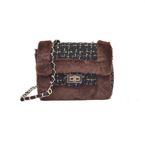 Hot New Wild Chain Woolen Shoulder Messenger Bag Plush Bag