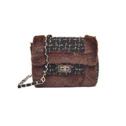 New Wild Chain Woolen Shoulder Messenger Bag Plush Bag -