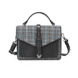Classic Lattice Wild Shoulder Messenger Bag Handbag -