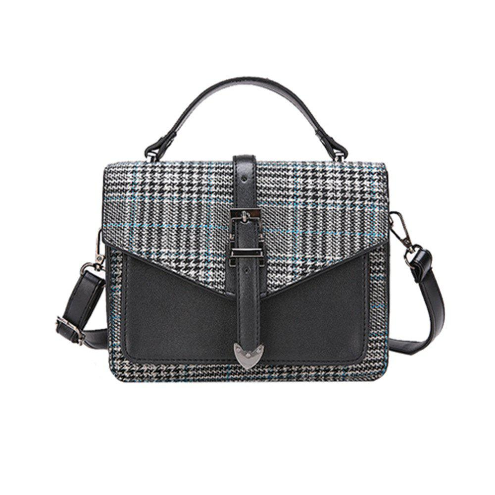 Outfits Classic Lattice Wild Shoulder Messenger Bag Handbag