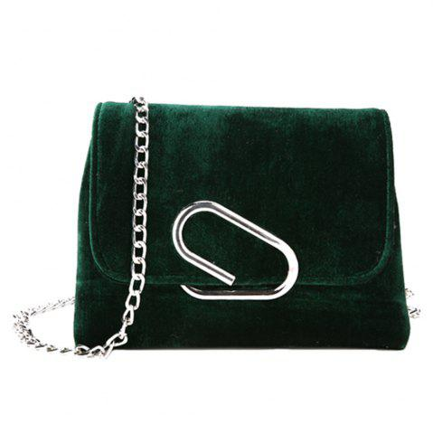 Hot New Shoulder Messenger Bag Velvet Chain Small Square Package
