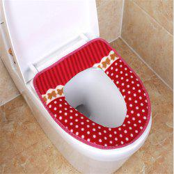 Corduroy toilet cushion in winter -
