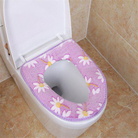 Chic A toilet seat cushion and a toilet cushion in winter