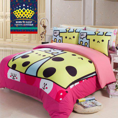 Latest New Arrivals Cartoon Bedding Set for Kids 3D Animal Bed Sheet Queen Size Cute Bulldog Print Duvet Cover Home Bedclothes