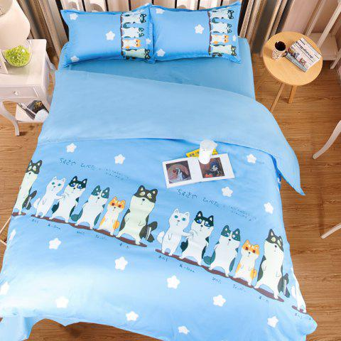 Trendy New Arrivals Cartoon Bedding Set for Kids 3D Animal Bed Sheet Queen Size Cute Bulldog Print Duvet Cover Home Bedclothes