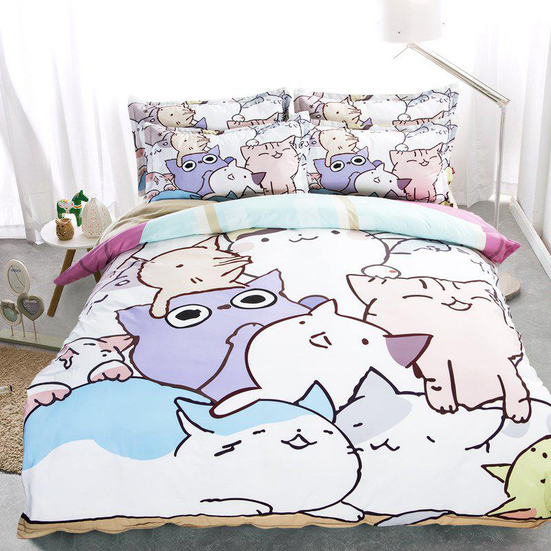 Shops New Arrivals Cartoon Bedding Set for Kids 3D Animal Bed Sheet Queen Size Cute Bulldog Print Duvet Cover Home Bedclothes