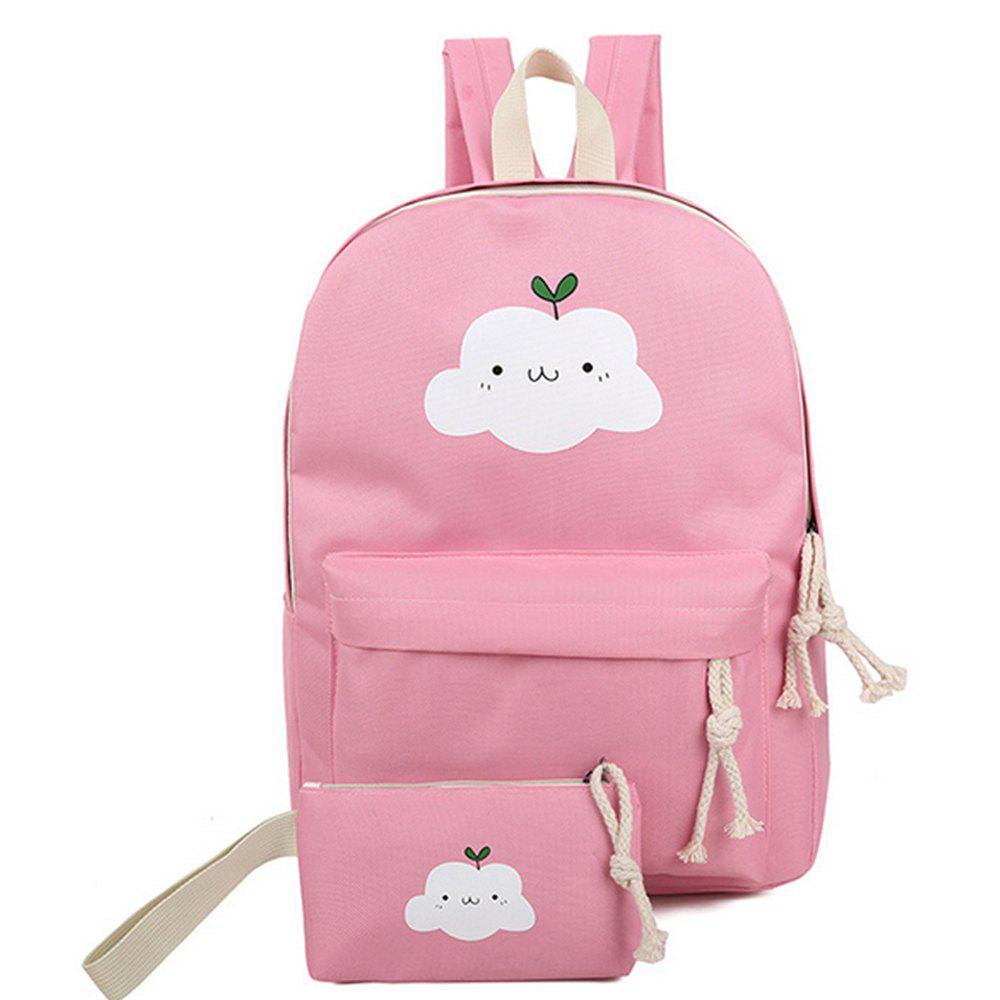 Fancy Women's Backpack Set Lovely Cartoon Trendy All Matched Simple Style Bags Set