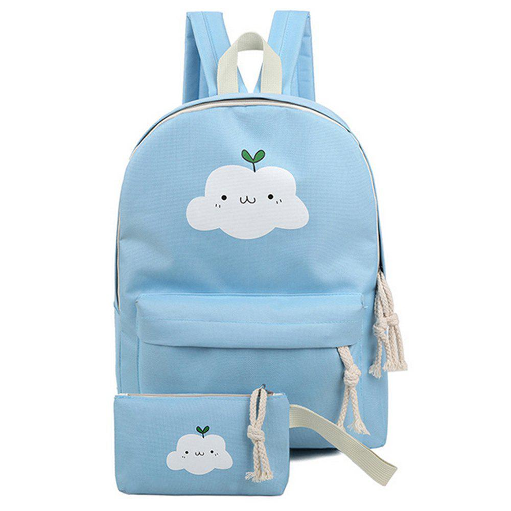 New Women's Backpack Set Lovely Cartoon Trendy All Matched Simple Style Bags Set